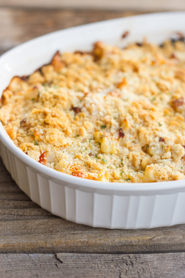 The creamy, crunchy potato side dish we all love, just lightened up a bit.