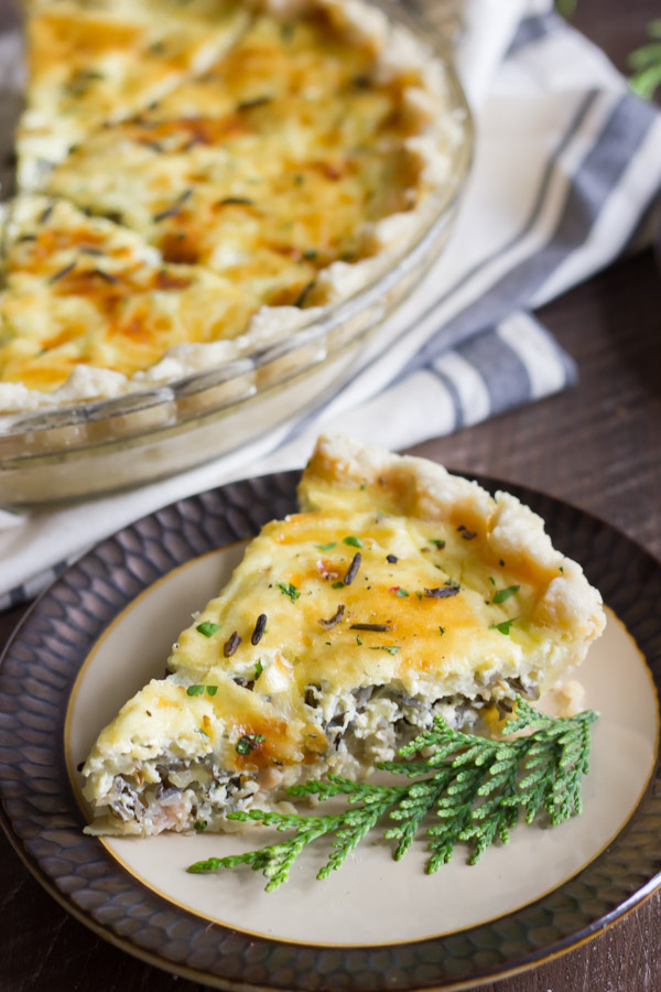 Cheesy Wild Rice Quich - Canadian bacon, nutty wild rice, and creamy, cheesy eggs all baked up in a buttery, flakey pie crust!