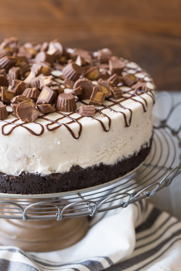 Peanut Butter Cup Ice Cream Cake - The easiest way to make an ice ...