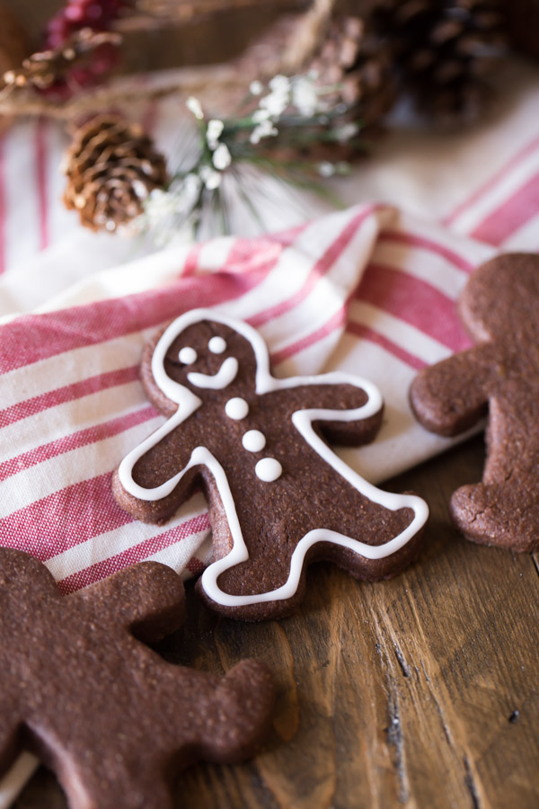 Chocolate Cut-Out Cookies - Easy to roll and cut out, and they taste like brownies!