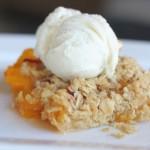 Peach Crisp Ice Cream