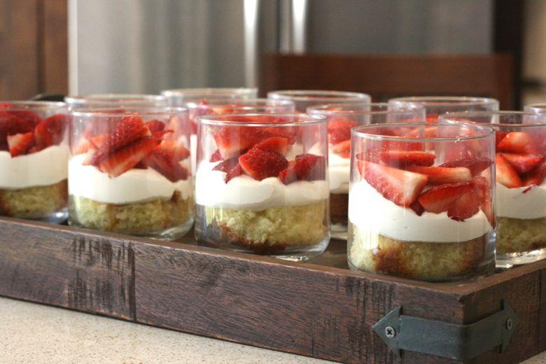 Strawberry Mini Trifles