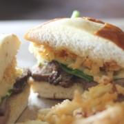 Steak Sandwich with Onion Straws