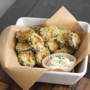 Baked Zucchini with Skinny Buttermilk Ranch
