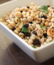 Farro with Cashews and Currants