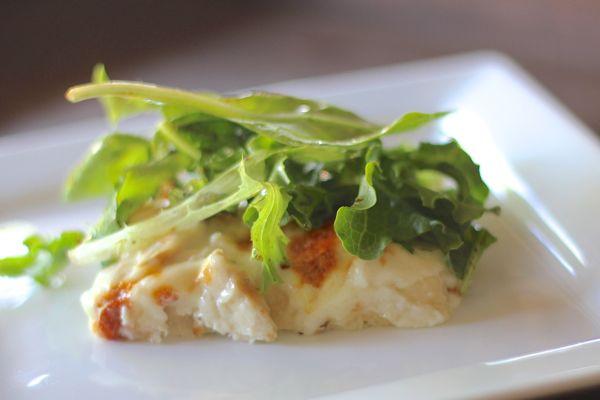 Garlic Chicken Pizza slice on a plate.