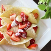 Strawberry Banana Crepes - perfect for a lazy Saturday morning breakfast