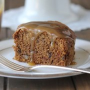 Applesauce Cake With Butterscotch Sauce
