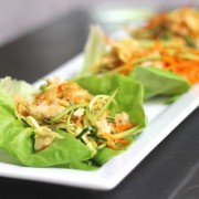 Asian Chicken Veggie Wraps