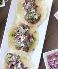 Steak Tacos With Cilantro Lime Cream