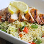 Lemon Garlic Orzo With Roasted Vegetables