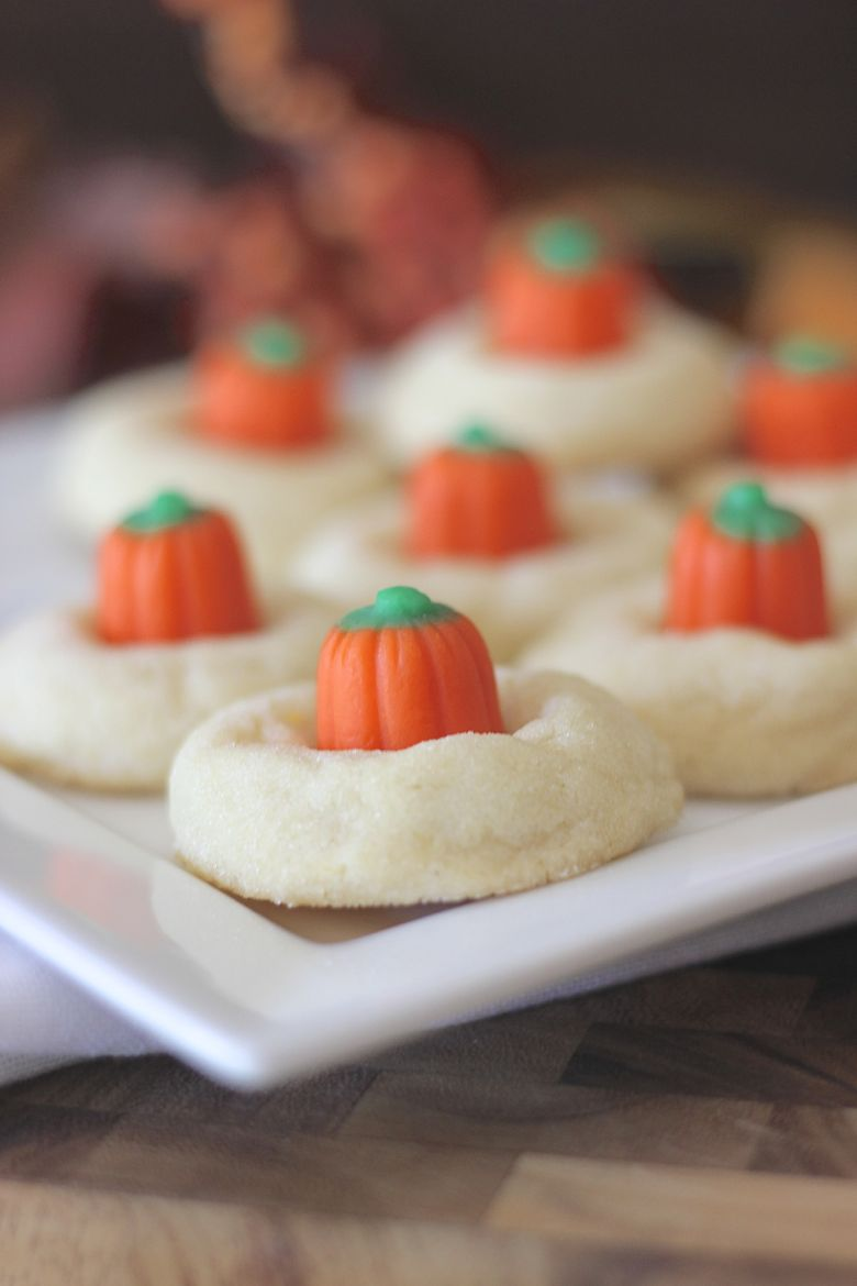 Mellowcreme Pumpkin Cookies on a plate.