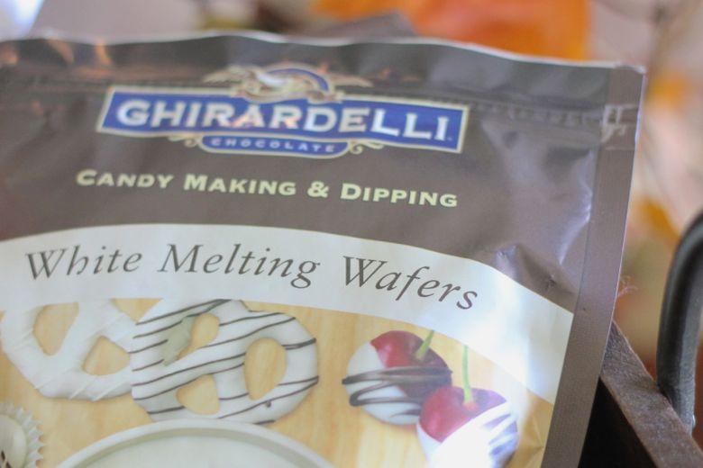 Bag of Ghiradelli Chocolate White Melting Wafers.