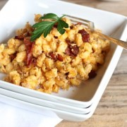 Pumpkin Mac and Cheese With Bacon