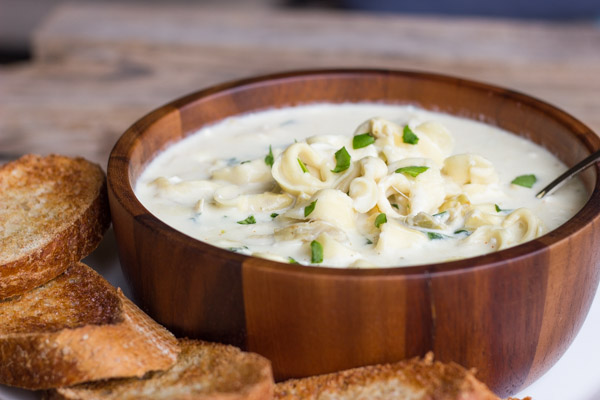 Creamy Spinach And Artichoke Soup With Cheese Tortellini Lovely