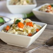 Easy Chicken and Noodles - this cozy one-dish meal with chicken, veggies and egg noodles is hearty and satisfying