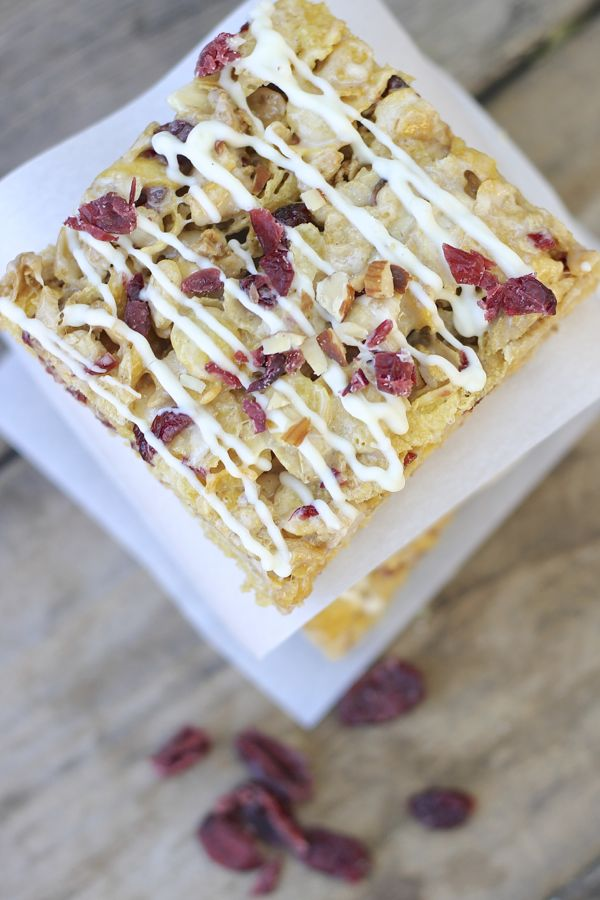 Cranberry Almond Brown Butter Cereal Bar square.