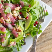 Harvest Salad With Cranberry Vinaigrette | lovelylittlekitchen.com