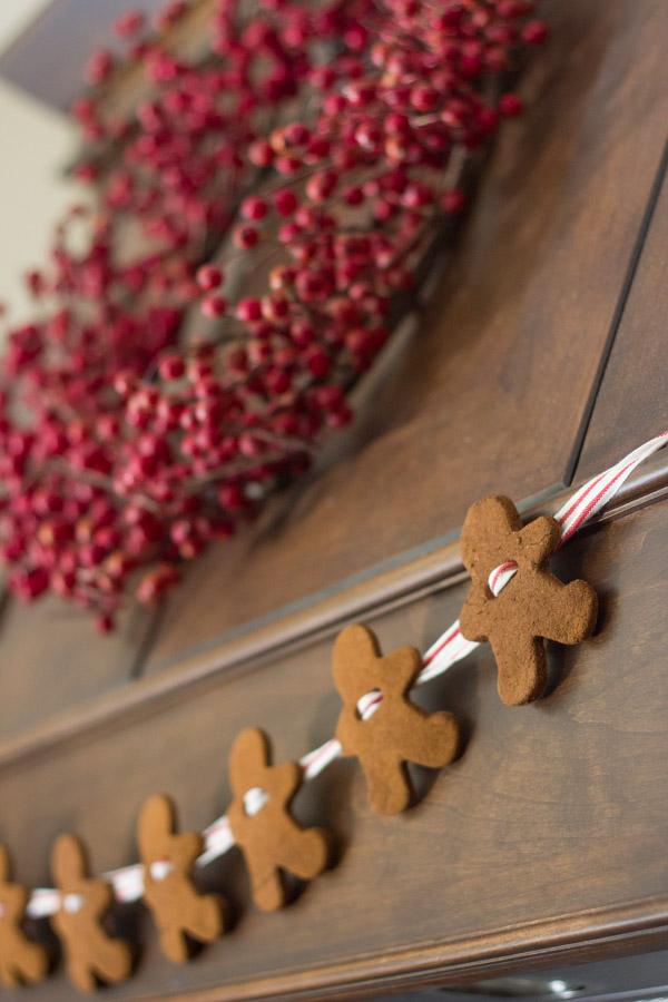Gingerbread Man Garland made from the Cinnamon Applesauce Dough.