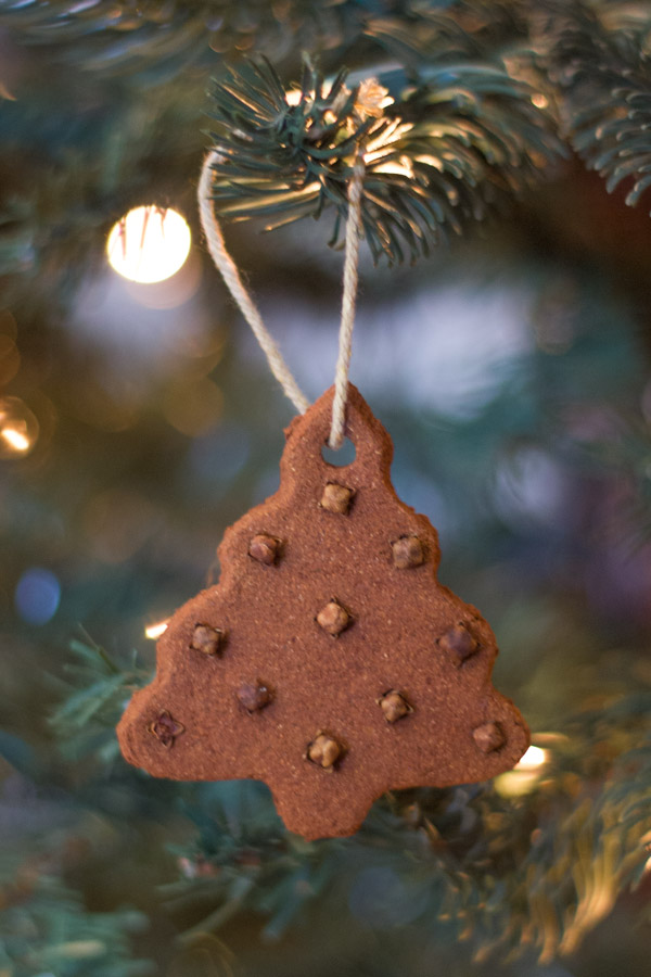 Cinnamon and Cloves Tree Ornament made with the Cinnamon Applesauce Dough.