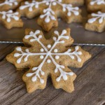 Iced Graham Cracker Snowflakes - homemade graham crackers made with whole wheat flour and honey