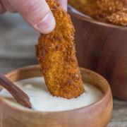 Crispy, crunchy, perfectly seasoned chicken strips.