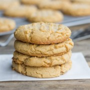 These brown butter peanut butter cookies are big, soft and chewy with a rich peanut butter flavor you'll love!