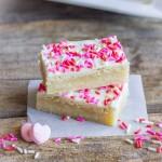 Easy White Chocolate Sugar Cookie Bars lovelylittlekitchen.com