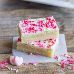 Easy White Chocolate Sugar Cookie Bars lovelylittlekitchen.com