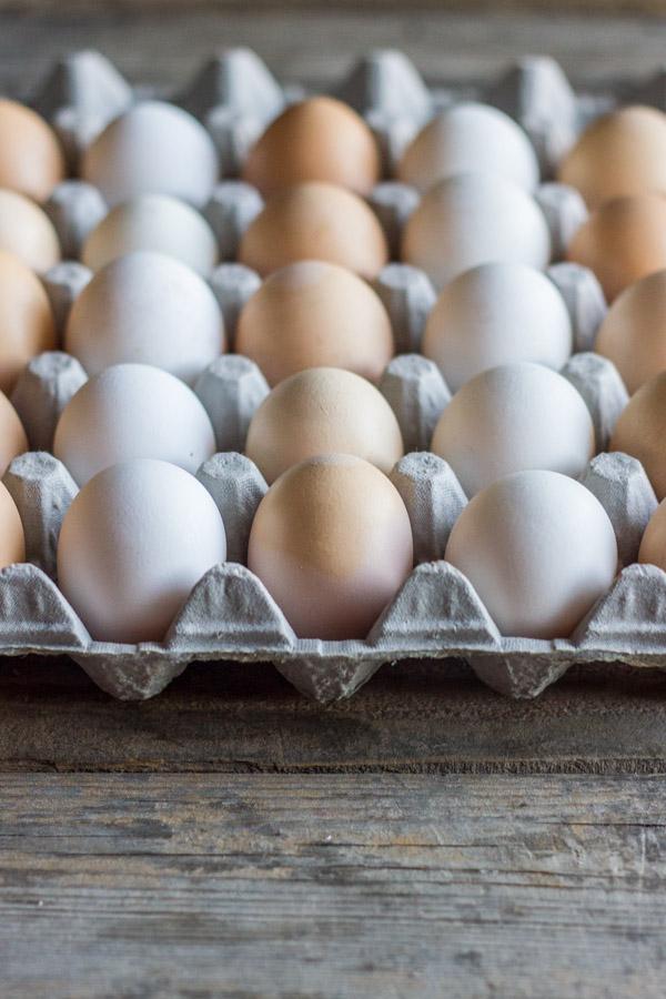 A carton of eggs.