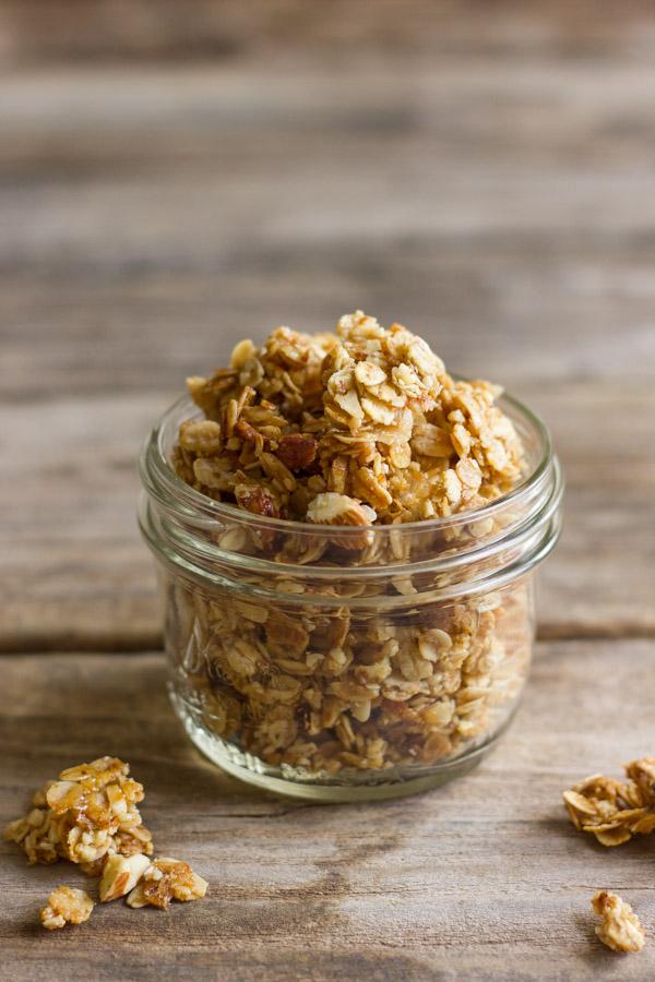 Homemade Coconut Oil Honey Almond Granola - Lovely Little
