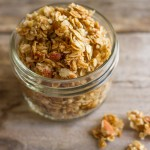 Wonderfully sticky and clumpy, this Homemade Coconut Oil Honey Almond Granola will make your day!