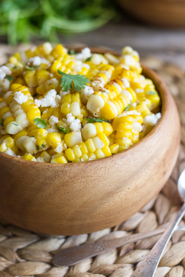 Chili Lime Sweet Corn Salad in a bowl.