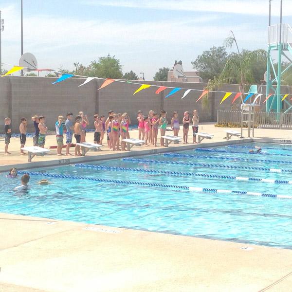 Swim Team from the Bleachers