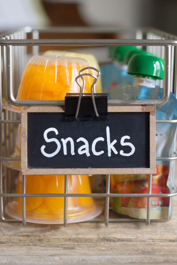 Snack Station - makes it easy for kids to make good choices