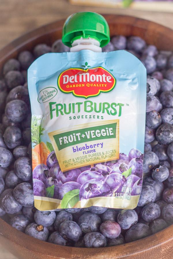 Del Monte Fruit Burst Squeezers - Blueberry