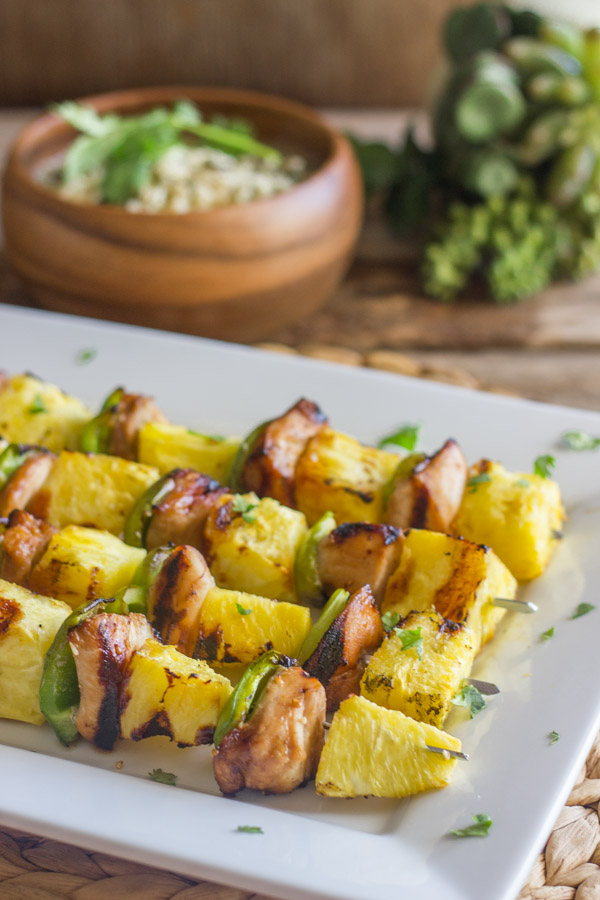 Grilled Teriyaki Chicken And Pineapple Kebabs Lovely Little Kitchen