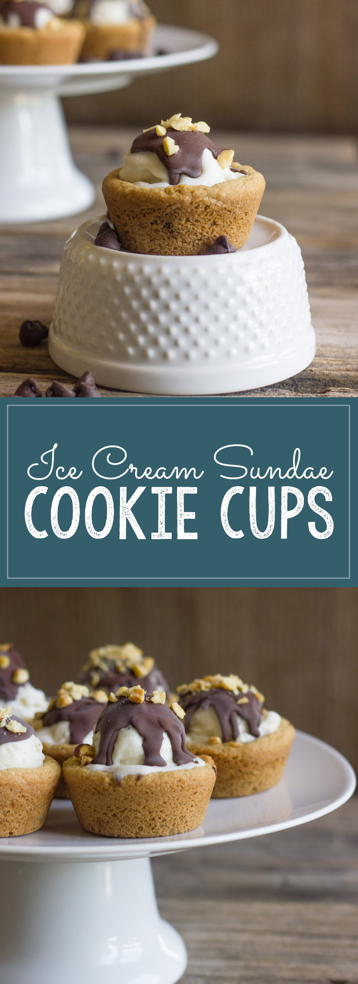 These Ice Cream Sundae Cookie Cups are the perfect little summertime treat!