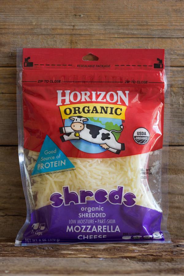 Bag of Horizon Organic Shredded Mozzarella Cheese