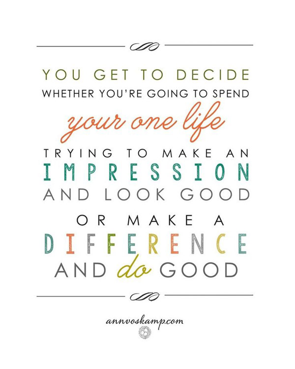 You Get to Decide