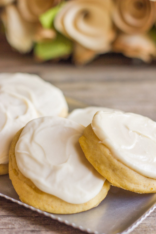 Maple Cream Cheese Frosting soft pumpkin cookies with maple cream cheese frosting - lovely