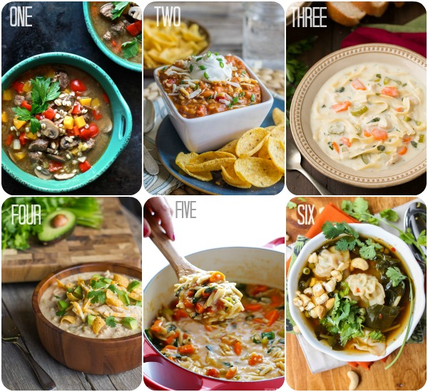 Six Soups Ready for Fall!