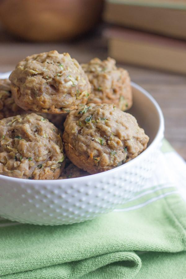 Carrot Zucchini Oat Muffins