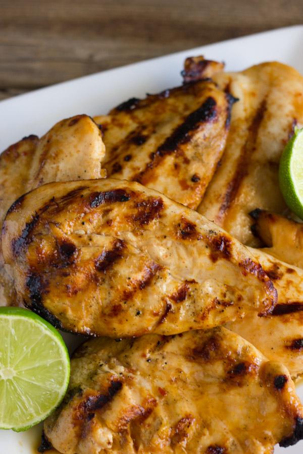 Honey Lime Chili Marinated Chicken