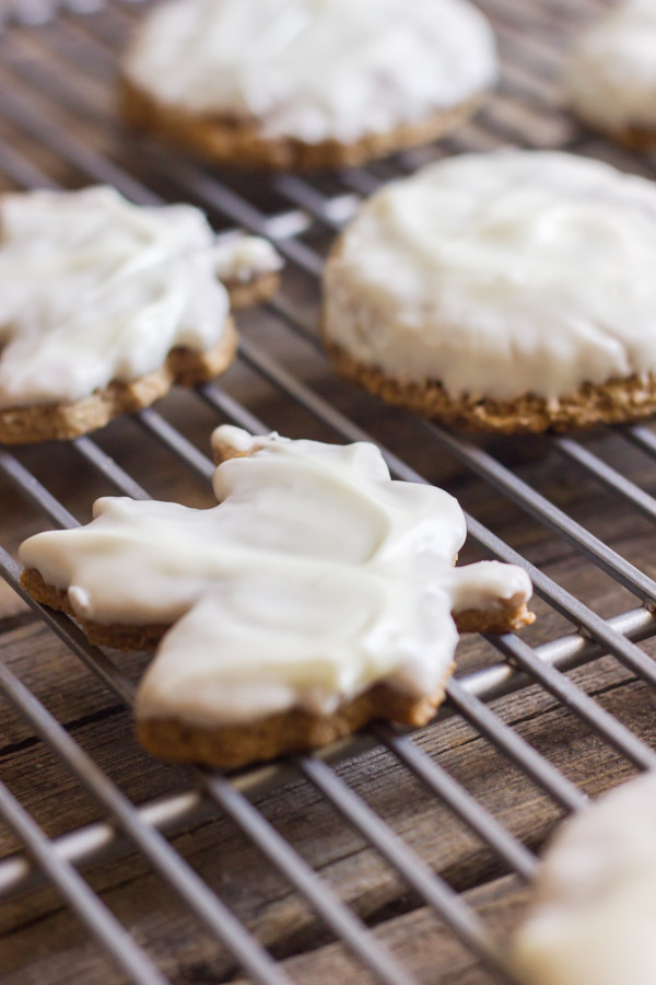 White Chocolate Dipped Homemade Graham Crackers