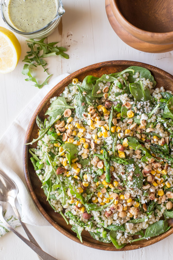 Stetson Salad With Pesto Buttermilk Dressing - This salad is loved by all - a wonderful combination of textures and flavors with a dressing that will knock your socks off!
