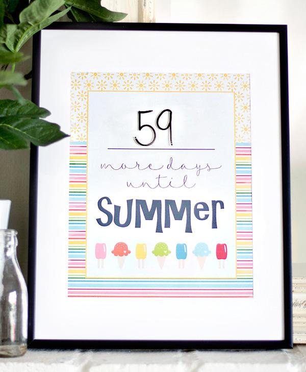 Summer Countdown Printable