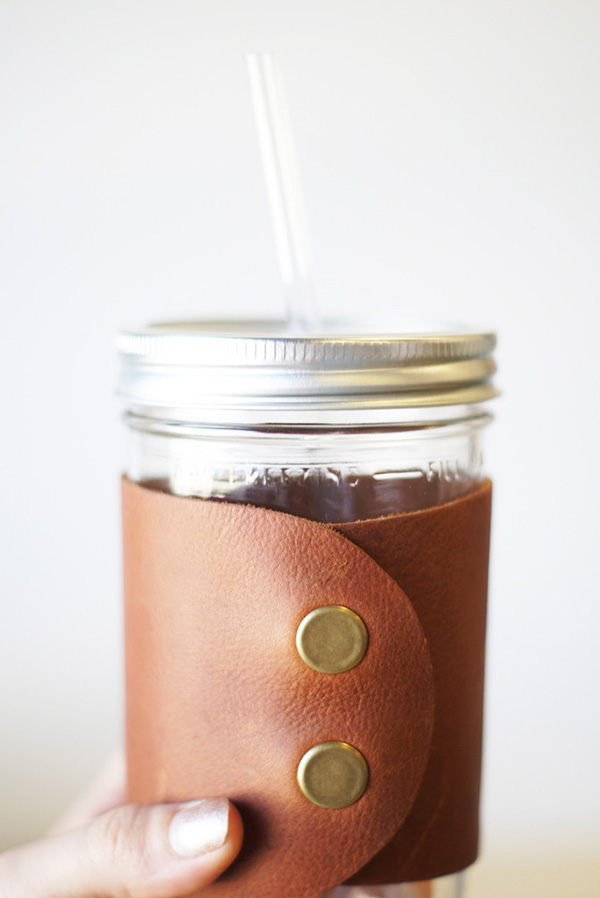 The Whiskey Leather Cuff by The Mason Bar Company