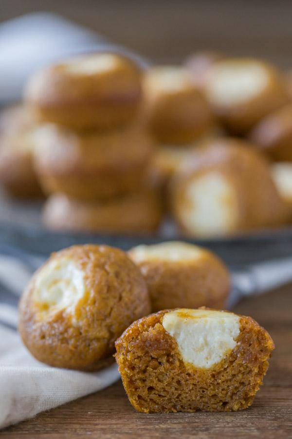 Mini Pumpkin Cheesecake Muffins 1-1