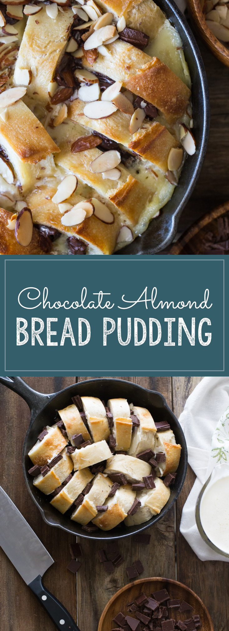 It's decadent, warm and cozy with gooey chocolate and almond flavoring. So good!